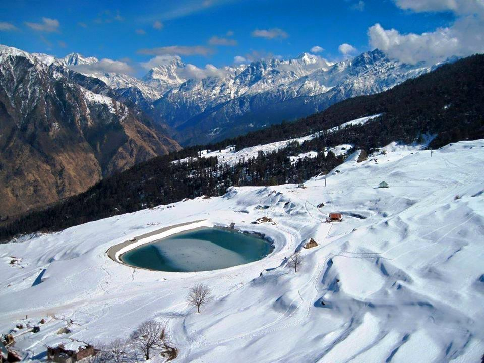 Auli Man made lake
