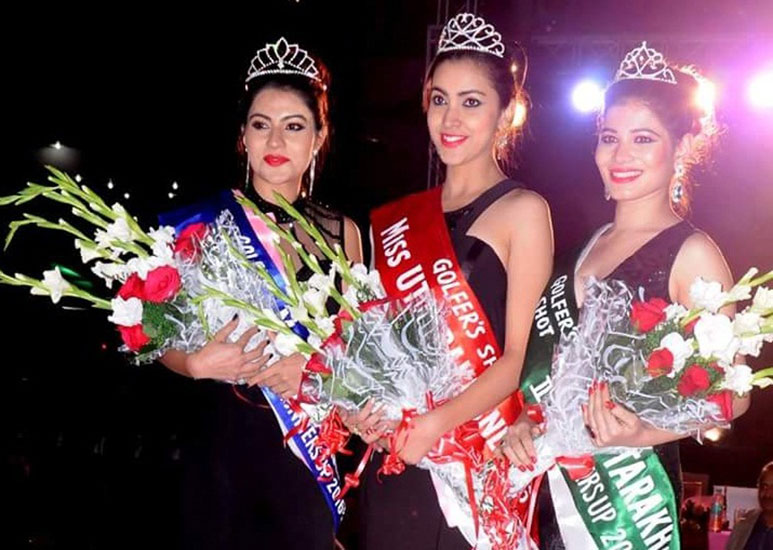 Winners of Golfer Shot's Miss Uttarakhand Contest 2016