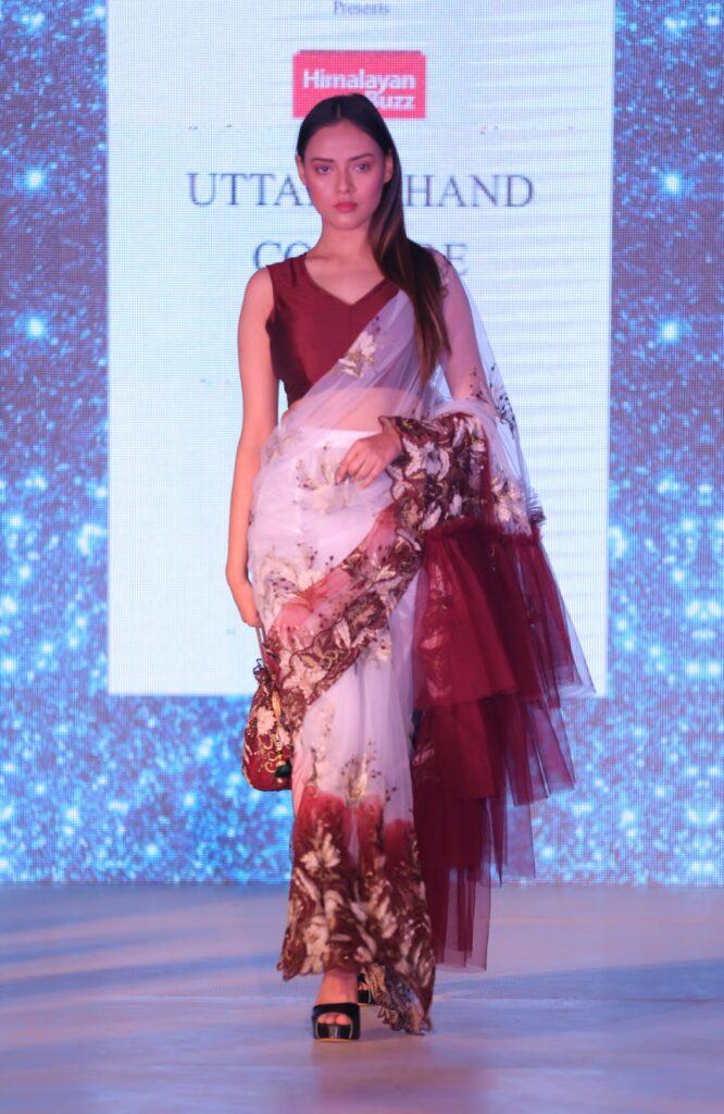 Model in Rinki Rana's creation