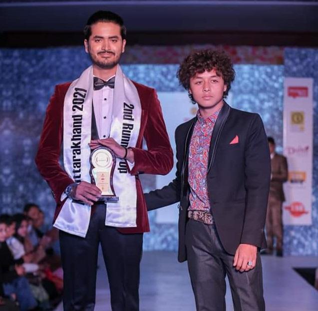 Saksham with Mr. Dehradun 2020 Tanishq Rai