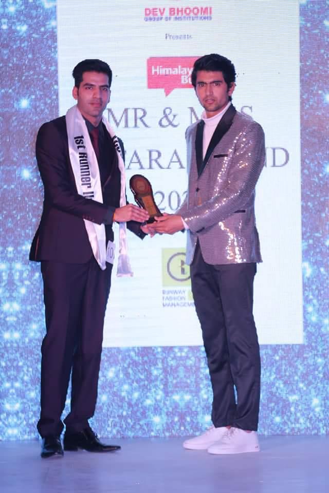 Yuvraj Dutta with Mr Uttarakhand 2020 Runner Up Avin Tyagi