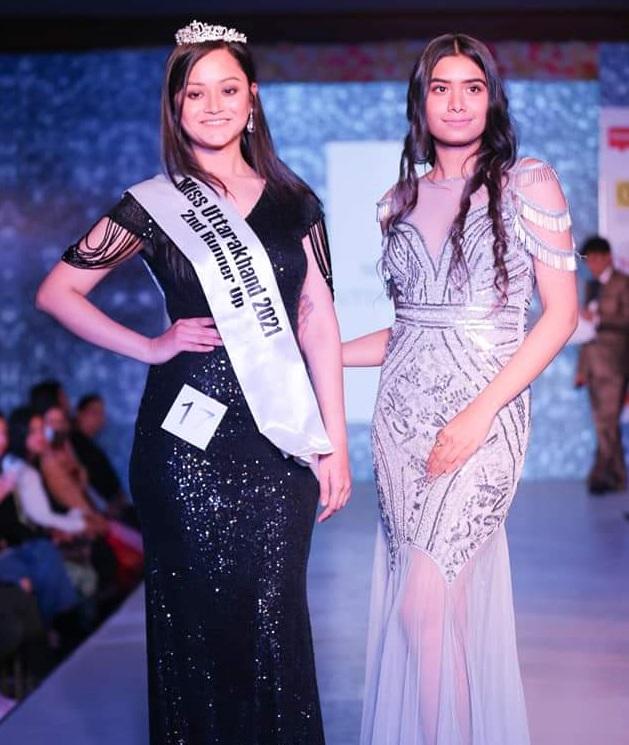 Himanshi Verma with Himalayan Buzz Miss Dehradun 2019 Radhika Chandna